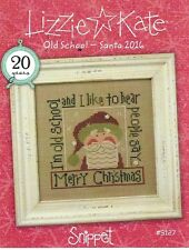Lizzie Kate Christmas Old School Santa 2016 Chart + Snowflake Buttons
