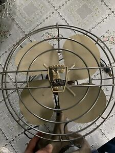 Vintage Metal St Louis Emerson Oscillating Electric Fan Works  Great