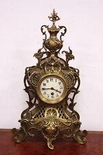Orologio con pendolo in bronzo dorato Napoleone III Francese firmato XIX secolo