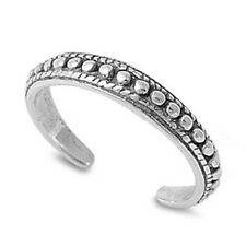 Silver 925 Best Jewelry Width 3 mm Bali Style Adjustable Toe Ring Solid Sterling