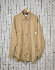 Oil & Gas Safety Supply FR Flame Resistant Long Sleeve Button Up Shirt 3XL HRC2