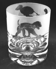 More details for bedlington terrier frieze boxed 30cl glass whisky tumbler