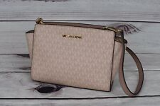 Michael Kors Selma Medium Messenger Women's Crossbody Handbag - Fawn/Ballet