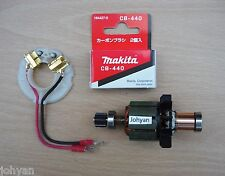 GENUINE MAKITA 18V ARMATURE BRUSH HOLDER & BRUSHES  BHP451 BDF451 CORDLESS MOTOR