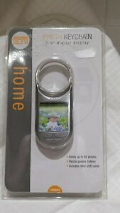 "Home Photo Keychain 1.5"" Digital Display Holds 60 Photos Rechargeable Batteries"