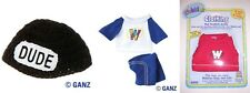 Webkinz W E B K I N Z Clothes 3 pack Dude Hat Red Football Jersey Sports Set NEW