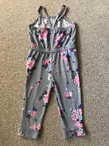GREY FLORAL JUMPSUIT GIRLS 3T/3A SUMMER HOLIDAYS XMAS TOWIE PONY PARTY TOP ELSA
