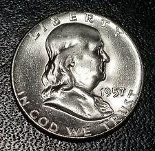 1957-P Franklin Half Dollar (GEM-BU), 90% Silver Coin * Low Shipping * Must see*
