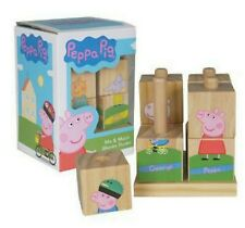Peppa Pig Childrens Character Educational Wooden Stacking Blocks Puzzle Game Toy