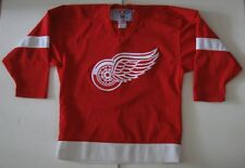 L/XL Boys CCM Detroit Red Wings NHL Hockey Jersey Red White