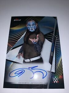 Topps WWE Finest 2020 Authentic Autograph Card Of Jeff Hardy Black #18/25.