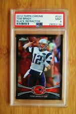 2012 Topps Chrome Black Refractor /299 #220 Tom Brady PSA 9 MINT