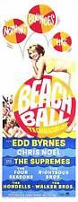 BEACH BALL Movie POSTER 14x36 Insert Edd Byrnes Chris Noel Robert Logan Aron