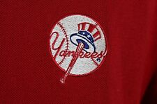 MLB New York Yankees Antigua Polo Style Shirt Size XL Red White Blue Patriotic
