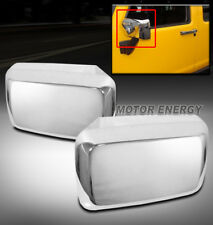 06-10 HUMMER H3 H3T PICKUP SIDE DOOR MIRROR COVERS TRIMS GUARD CHROME LEFT+RIGHT