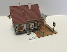 Faller B-215 H0 Fachwerkhaus Gaststätte mit Garage,gut geklebt,1:87,selten & RAR