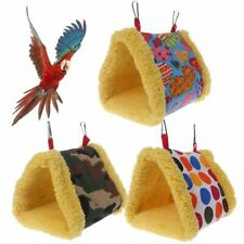 Winter Warm Bird Cage Parrot Hammock Hanging Bed Cave House Swing Nest Tent New