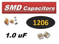 AVX 1.0 uf 25V 1 uf SMD 1206 Ceramic Capacitor (250 pcs) *** NEW ***