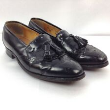 JOHNSTON & MURPHY OPTIMA Men's Black Leather Slip On Loafer Dress Shoes Size 8.5