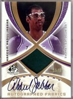 Kareem Abdul-Jabbar 2005-06 SP Game Used Legendary Jersey/Autograph Lakers # /50