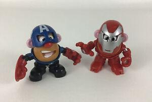 "Marvel Mr Potato Head Mini Mixable Mashable Captain America Iron Man 3"" Figure"