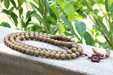 15mm Big Tibet Buddhism 108 Good Green sandalwood Prayer Bead Mala Necklace