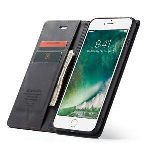 Apple iPhone Leather Flip Wallet Case (Black)