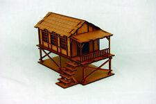 Far East ou jungle Petit Village House (échasses) 28 mm Laser Cut MDF Building K003