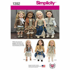 """Simplicity SEWING PATTERN 1392 Steampunk Dolls Clothes For 18""""/45.5cm Dolls"""