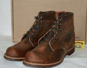 Red Wing Shoes 3343 Blacksmith Brown Leather Boots UK8 EU42 US9D Copper Vibram