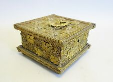 "Fine French 19th C. Gilt Metal & Wood Box  c. 1880  Exc Cdn  7"" x 7"" x 4"""