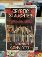 Cryptic Slaughter Convicted cassette tape Metal Blade 1986 Thrash Hardcore Speed