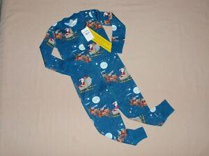 NWT Boys Girls Hanna Andersson Santa Sleeper Pajamas 70 85 6m 2T NEW