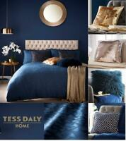 Tess Daly TOPAZ Midnight Blue Duvet Bedding Set Single Double King Or Superking