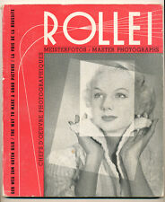 """Rollei Master Photographs"" libro in inglese/tedesco  1954 D782"