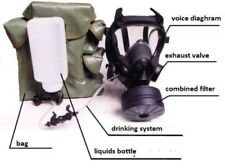 MP5 MP-5 MODERN MILITARY POLISH GAS MASK WITH FP5 FILTER & DRINK SYSTEM USED