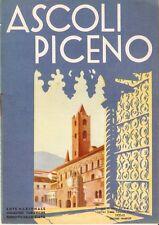 Ascoli Piceno - E.N.I.T. - Depliant in francese 1933  Marche