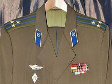 1980s USSR Russian Soviet KGB Officer Daily Uniform Visor Cap Jacket Pants 54-4