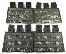 Lot of 4 Triple Mag Pouches ACU - Molle II 3 Magazine Shingle Pouch - US Army