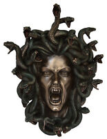 Medusa Mask Gorgon Serpent Monster Medousa Snake Lady - Cold Cast Bronze Resin
