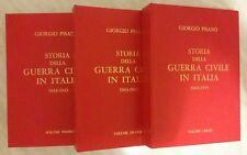 Storia della Guerra Civile in Italia 1943-1945 Giorgio Pisanò 3 Volumi come nuov