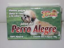 3-PACK) JABON PERRO ALEGRE-ANTI FLEAS/TICKS SOAP /DOG FIGHTS MANGE AND SEBORRHEA