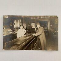 Antique RPPC Real Photograph Postcard Bar Tavern Saloon Pabst Beer Cincinnati OH