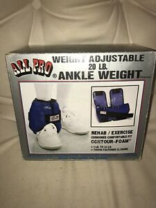 All Pro 20 lb Adjustable Ankle Weight Style #M20M NIB