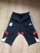 """De Colección Adidas Liverpool FC Fútbol Chándal Pantalones cortos de cintura de pantalones 3/4 36"""""""