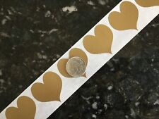 "500 HEART 1.5"" Gold SCRATCH OFF Stickers Labels Tabs Games Tickets Favors!"