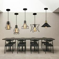 Modern Lamp Shape Pendant Light Hanging Ceiling Vintage Cage Bulb Not Included