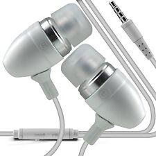 Bianco Premium Auricolare Vivavoce Con Microfono Per Samsung Galaxy S5