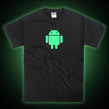 Android Mobile Phone Robot Glow in the Dark T-Shirt