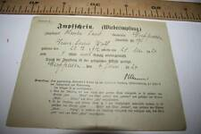 % ANTIGUO DOCUMENTO ALEMANIA  CERTIFICADO 1ª VACUNACIÓN 1924 VER FOTO